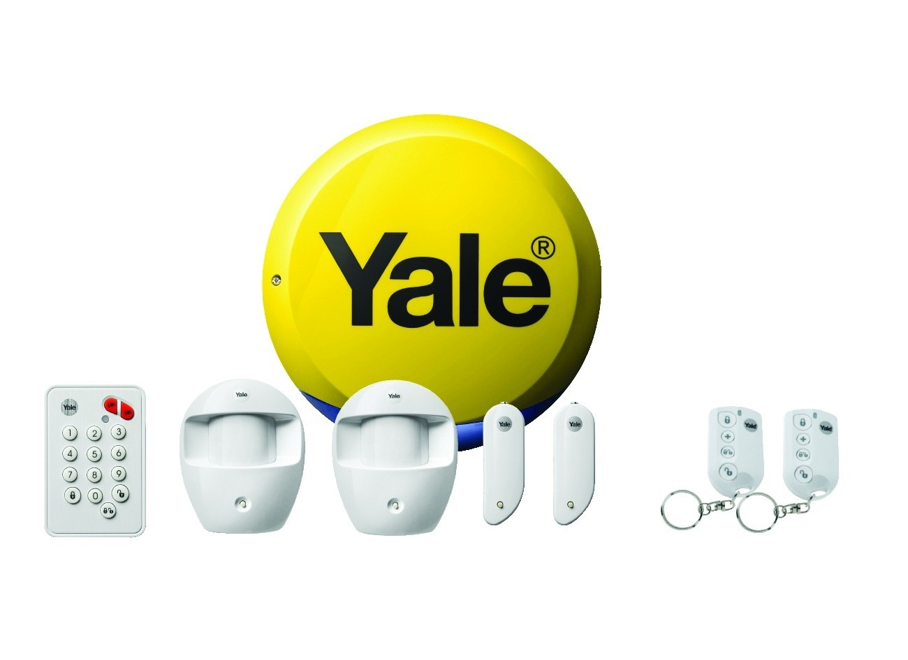 yale easy fit standard wireless wifi home security alarm. Black Bedroom Furniture Sets. Home Design Ideas